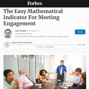 Read more about the article The Easy Mathematical Indicator For Meeting Engagement
