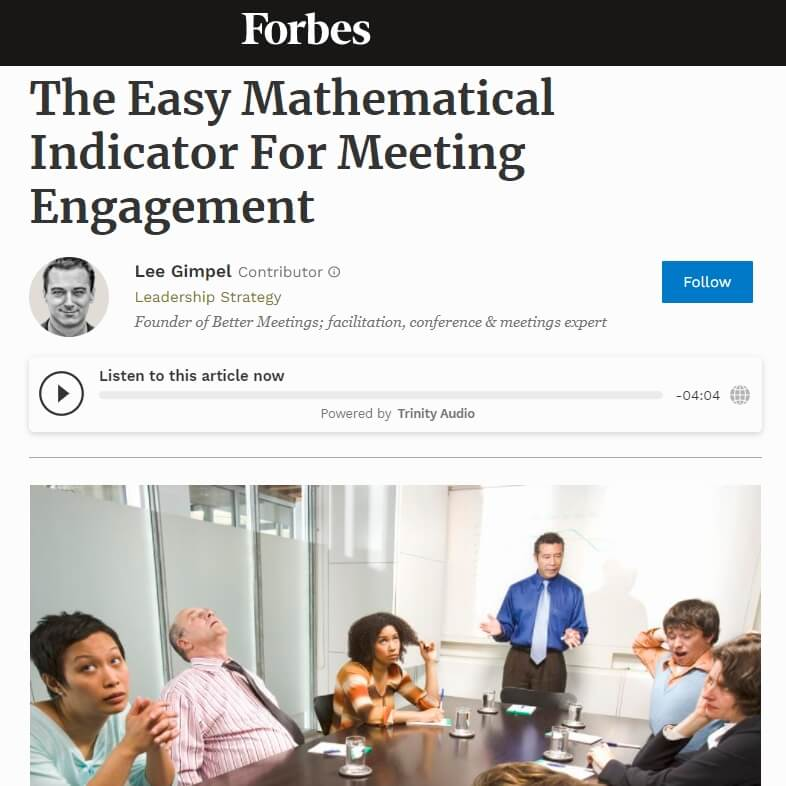 You are currently viewing The Easy Mathematical Indicator For Meeting Engagement