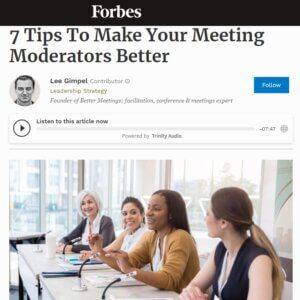 Read more about the article 7 Tips To Make Your Meeting Moderators Better