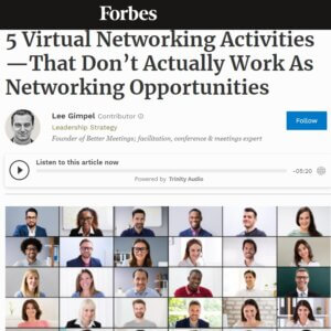 Read more about the article 5 Virtual Networking Activities—That Don't Actually Work As Networking Opportunities