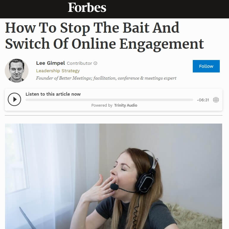 You are currently viewing How To Stop The Bait And Switch Of Online Engagement