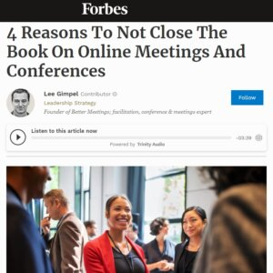 Read more about the article 4 Reasons To Not Close The Book On Online Meetings And Conferences