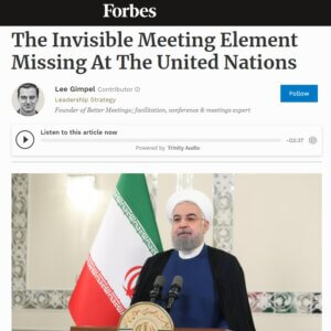 Read more about the article The Invisible Meeting Element Missing At The United Nations