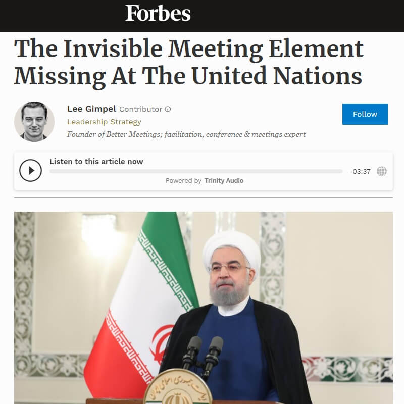 You are currently viewing The Invisible Meeting Element Missing At The United Nations