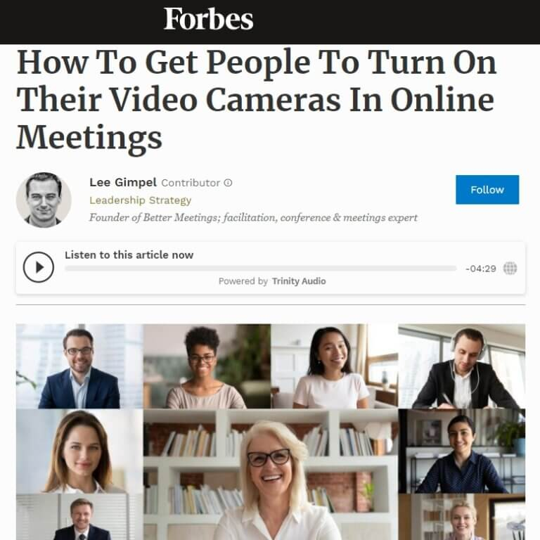Read more about the article How To Get People To Turn On Their Video Cameras In Online Meetings
