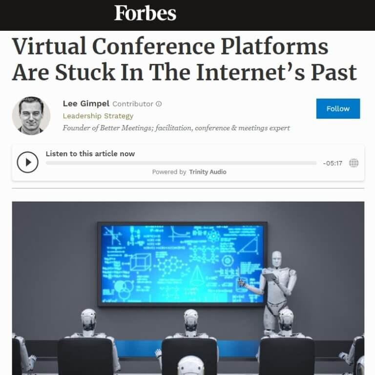Read more about the article Virtual Conference Platforms Are Stuck In The Internet's Past